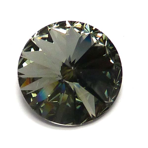 1122 Swarovski Rivoli Black Diamond 12 mm 1 st