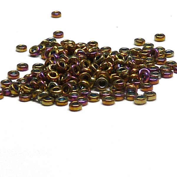 "Miyuki Spacer Bead ""188"" Metallic Purple Gold Iris 2,2*1 mm 5"