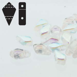 "Kite Bead™ ""00030-28701"" Crystal AB 2-håls 9*5 mm 10 gr"