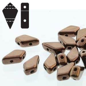 "Kite Bead™ ""23980-14415"" Jet Bronze 2-håls 9*5 mm 10 gr"