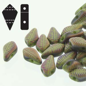 "Kite Bead™ ""53410-29573F"" Wasabi Matte Feather 9*5 mm 5 gr"
