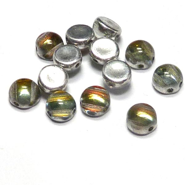 "2-hole cabochon ""00030-5100"" Crystal Backlit Tequila 6 mm 10 st"