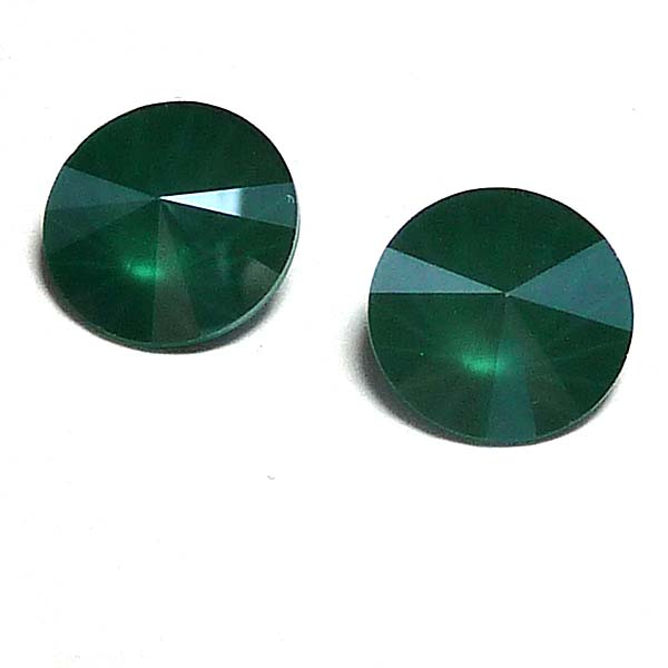 1122 Swarovski rivoli Crystal Royal Green 12 mm 1 st