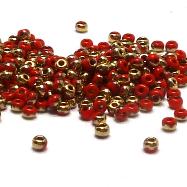 "Tjeckisk seedbead 11/0 ""93170-26441"" Light Red Amber 10 gr"