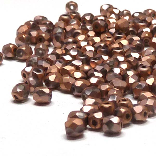 "Crystal Capri Gold Full Matted ""00030-27170"" firepolish 3 mm, 10"