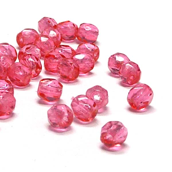 "Crystal Rose ""00030-67282"" firepolish 3 mm 100 st"