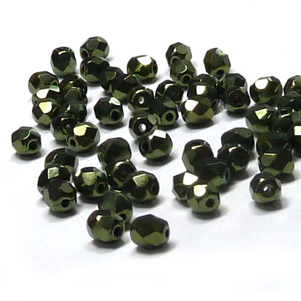 "Jet Red Luster ""23980-14495"" firepolish 4 mm, 100 st"