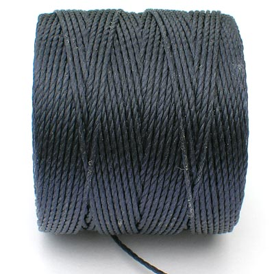 Navy - blå Bead/Mac cord superlon, S-lon, makramé