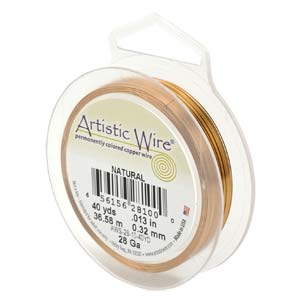 "Artistic wire kopparwire ""Natural 10"" 26 gauge"