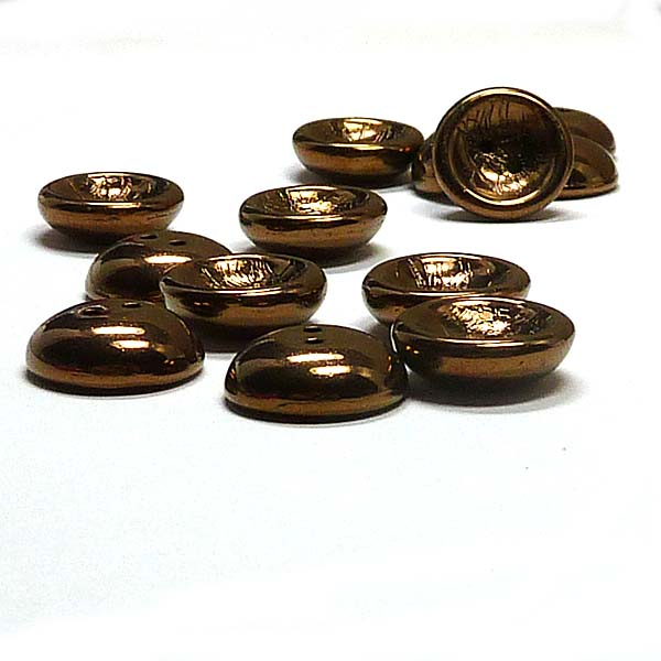 "Cup Button Jet Bronze ""23980-14450"", 14 mm, 2 st"