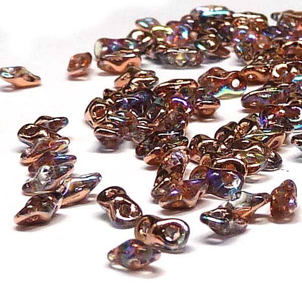 "Super8® Bead Crystal Copper Rainbow ""00030-98533"" 2-håls, 4,7*2,"
