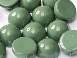"Dome Beads ""48597"" Hartford Green 12*7 mm, 5 st"