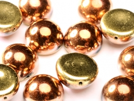"Dome Beads ""23980-98542"" Jet California Gold Rush 14*8 mm, 5 st"
