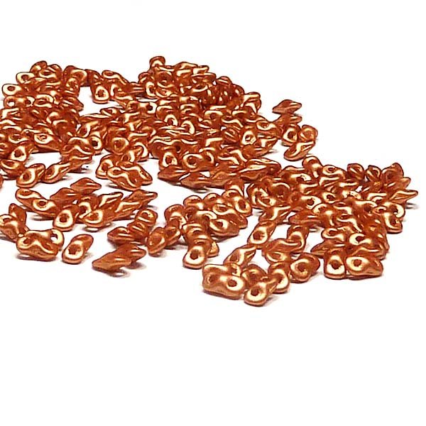 "Super8® Bead Metallic Copper ""29412"" 2-håls, 4,7*2,2 mm 5 gr"