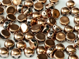 "2-hole cabochon ""23980-27100"" Jet Capri Gold Full 6 mm, 10 st"