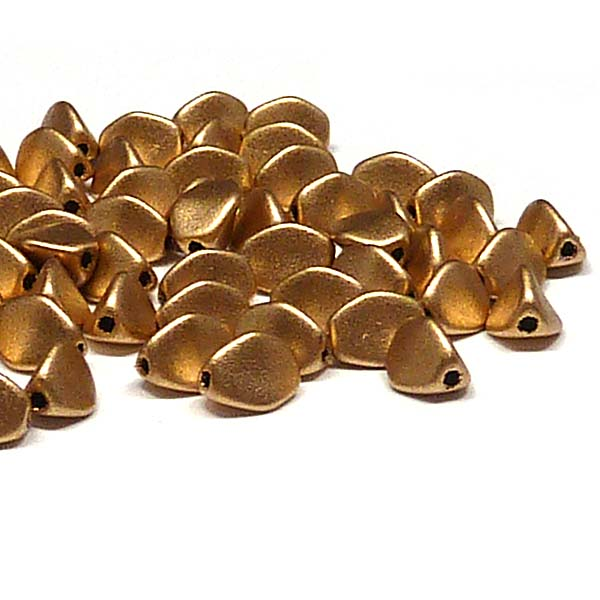 "Pinch beads Aztec Gold ""01710"" 5*3 mm, 50 st"