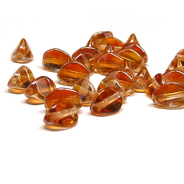 "Pinch beads Crystal Apricot Medium ""00030-29121"" 5*3 mm, 50 st"
