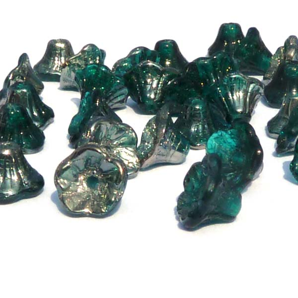 "Emerald Chrome ""50740-27401"" Flower Cup Bead 7*5 mm, 25 st"