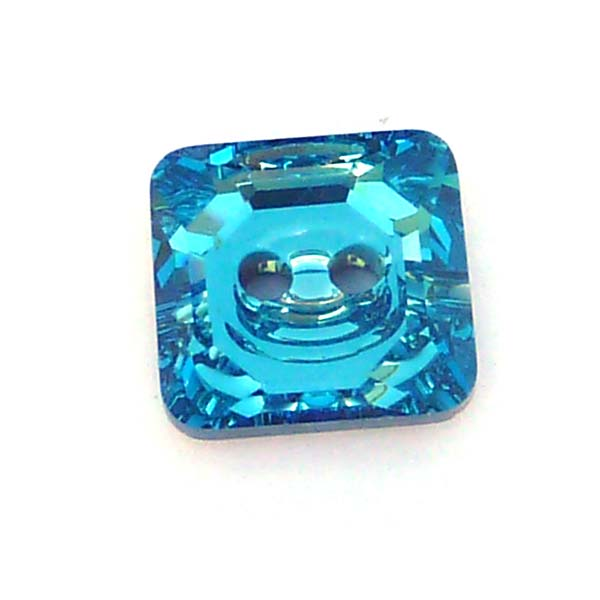 3710 - Square button/knapp - Aquamarine 12 mm, 1 st