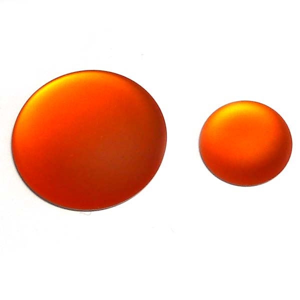 Lunasoft rund cabochon, orange, 24 mm