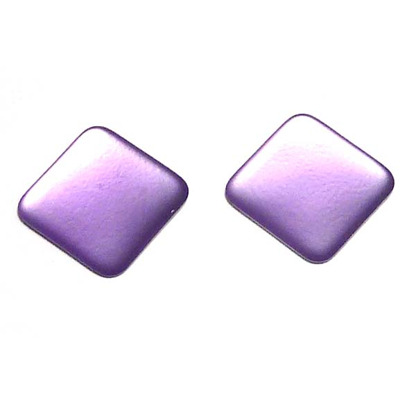 Lunasoft fyrkantig cabochon, purple, 17*17 mm