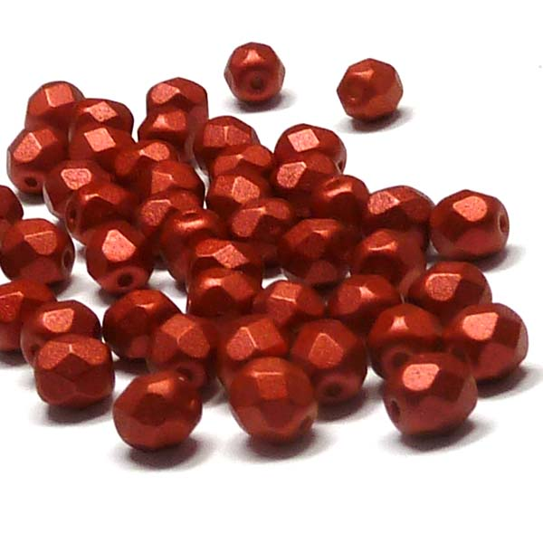 "Lava Red ""01890"" firepolish 6 mm 50 st"