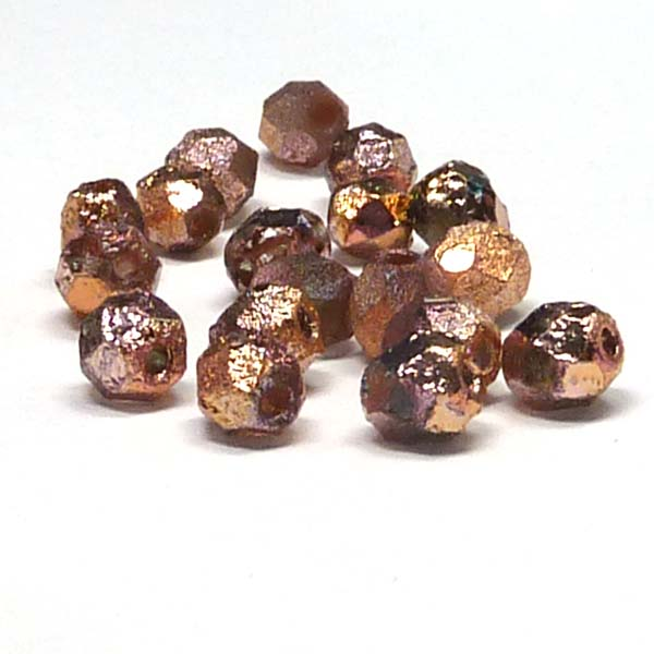 "Crystal Etched Full Capri Rose ""00030-27143E"" firepolish 6 mm 50"