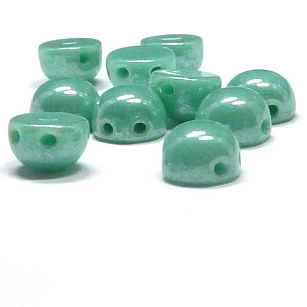 "2-hole cabochon ""63120-14400"" Jade Shimmer 6 mm 10 st"