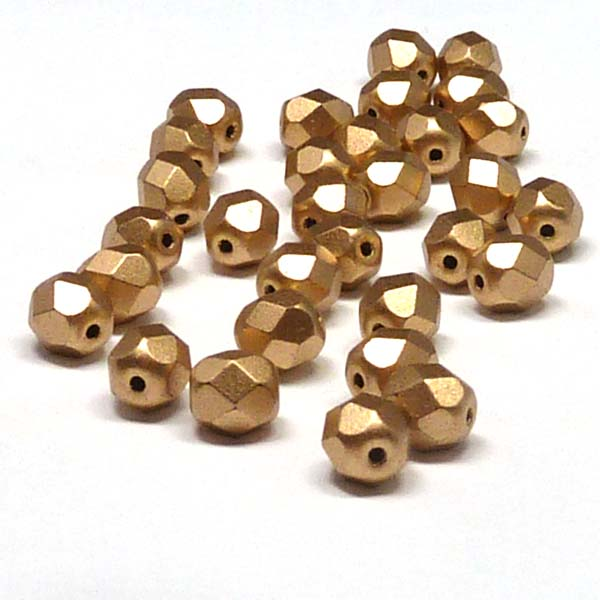 "Aztec Gold ""01710"" firepolish 6 mm 50 st"