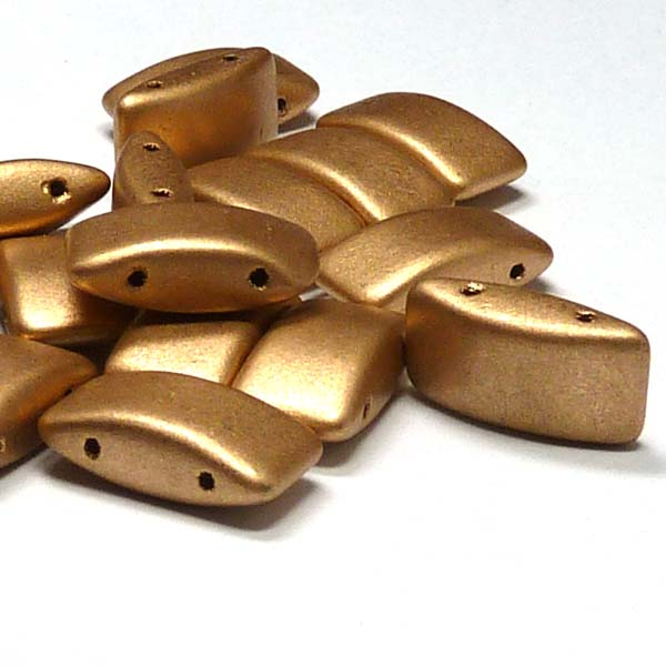 "Carrier Bead ""01710"" Aztec Gold, 2-hålspärla 9*17 mm 15 st"