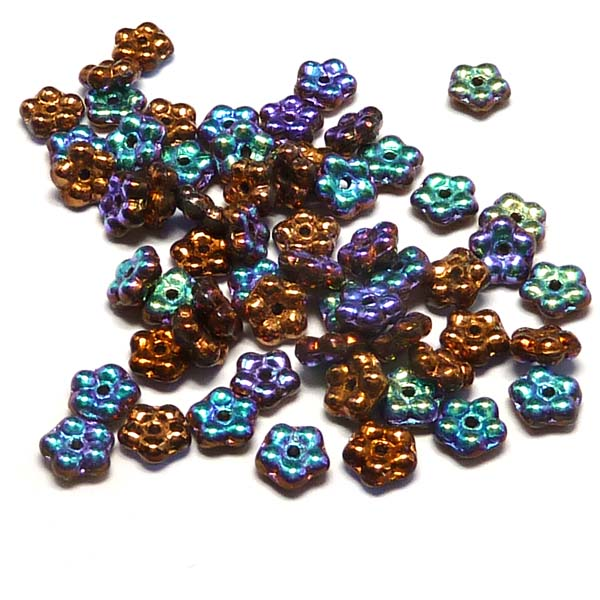 "Forget-me-not bead ""00030-98556"" Crystal Glittery Bronze , 5 mm,"