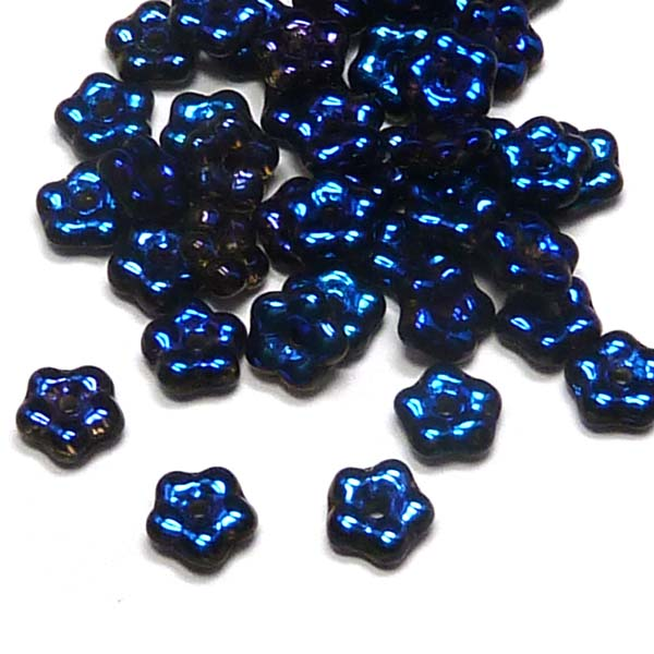 "Forget-me-not bead ""00030-22203"" Crystal Full Azuro, 5 mm, 50 st"