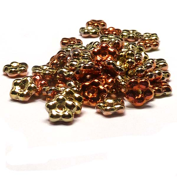"Forget-me-not bead ""23980-98542"" Jet California Gold Rush, 5 mm,"