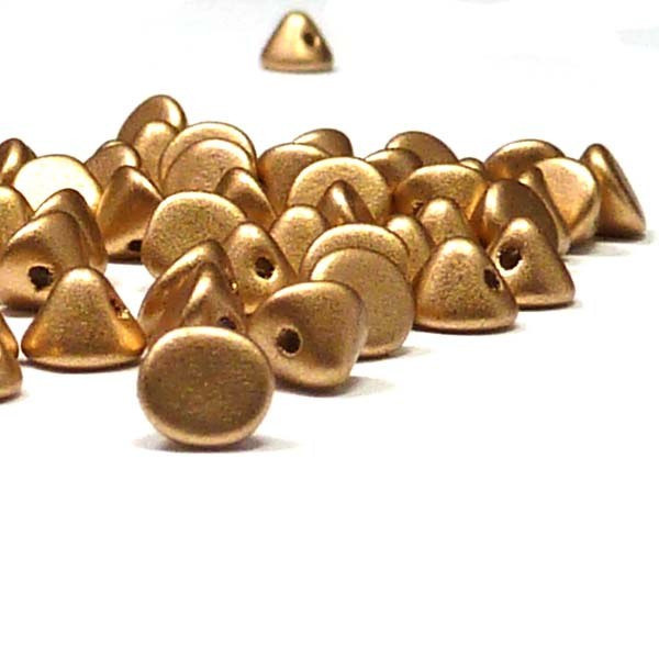 "Button Bead ""01710"" Aztec Gold 4 mm, 50 st"