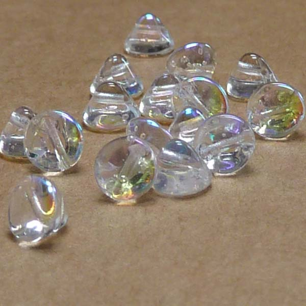 "Button Bead ""00030-28701"" Crystal AB 4 mm, 50 st"