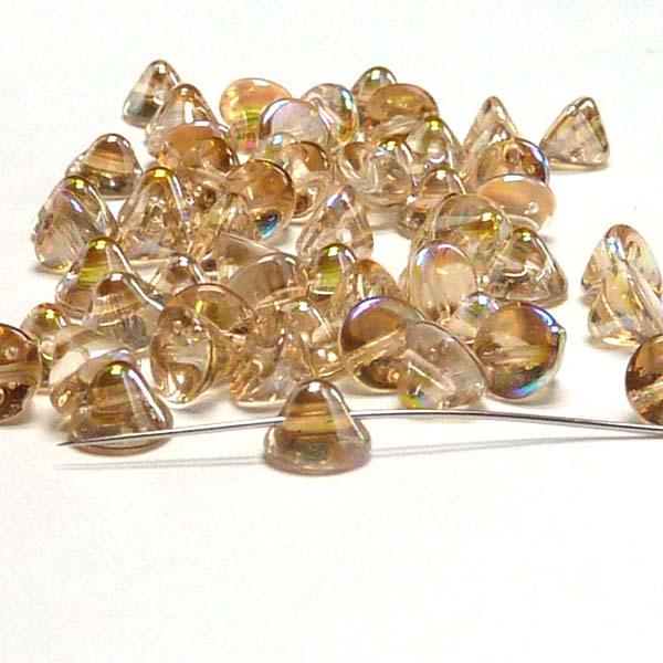 "Button Bead ""00030-98534"" Crystal Lemon Rainbow 4 mm, 50 st"