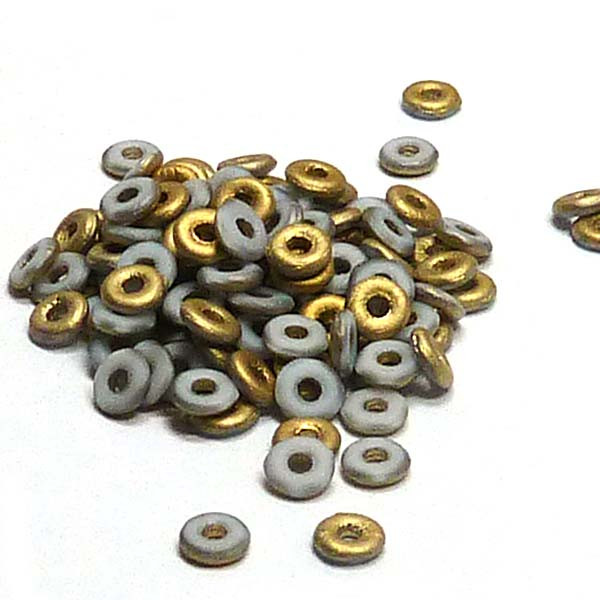 "O-bead ®, Chalk White Amber Matted ""03000-26471"" 4*2 mm, 5 gr"