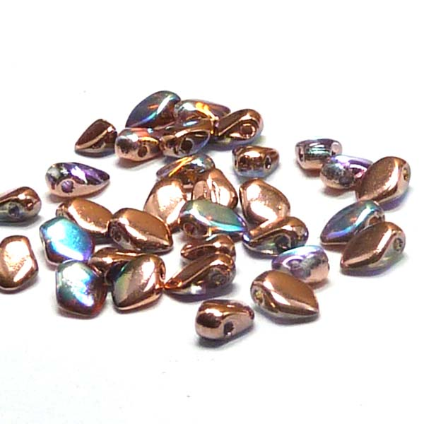 "Gekko® Bead ""00030-98533"" Crystal Copper Rainbow 5*3 mm, 50 s"