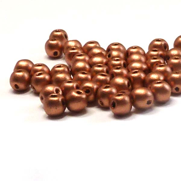 "RounDuo mini ""01770"" Vintage Copper 4 mm 100 st"