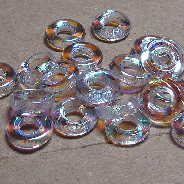 Glassrings Crystal AB 00030-28701, 9 mm, 25 st