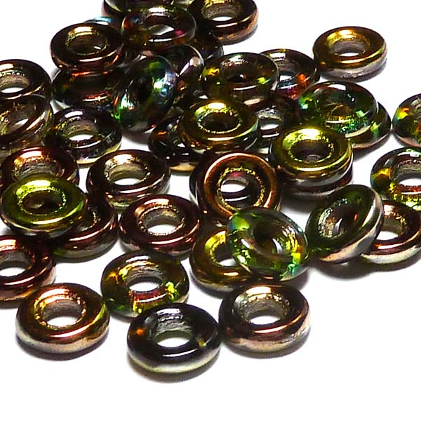 Glassrings Crystal magic green 00030-95400, 9 mm, 25 st
