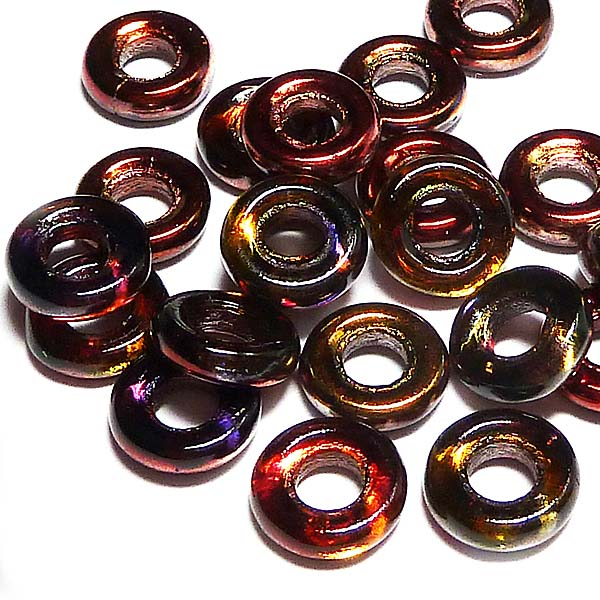 Glassrings Crystal magic wine 00030-95200, 9 mm, 25 st
