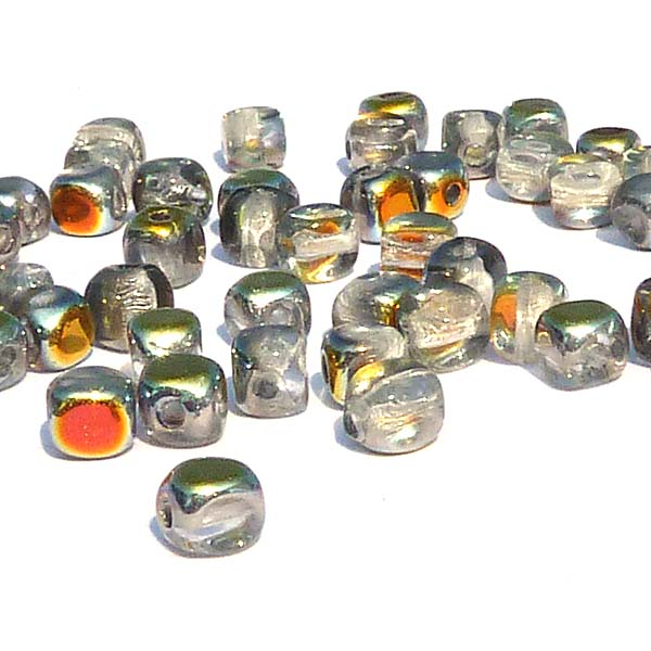 "Glass Cubes Crystal Marea ""00030-28001"" 4 mm, 100 st"