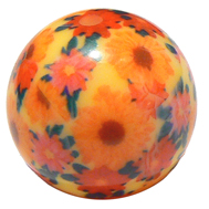 Orange photobead av resin, 25 mm