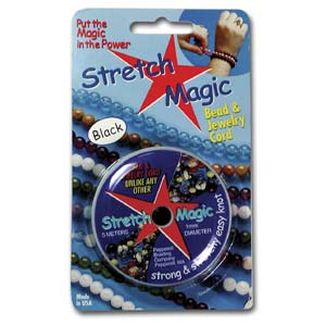 Stretch Magic elastisk tråd Svart 1 mm, 5 meter