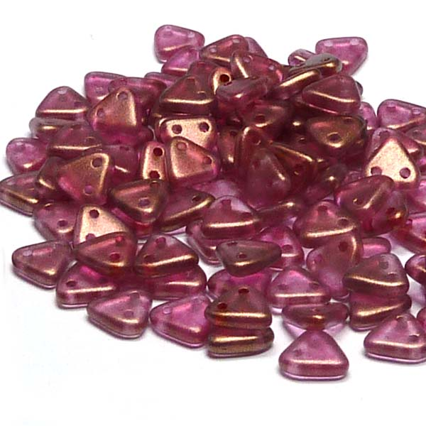 "CzechMates® Triangle Halo Madder Rose, ""29260"" 10 gr"