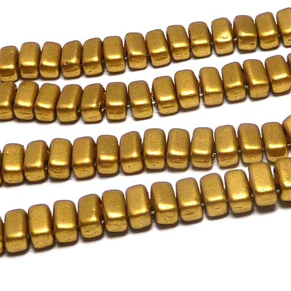 "CzechMates® Bricks Olive Gold ""01720"" 6*3 mm 50 st"