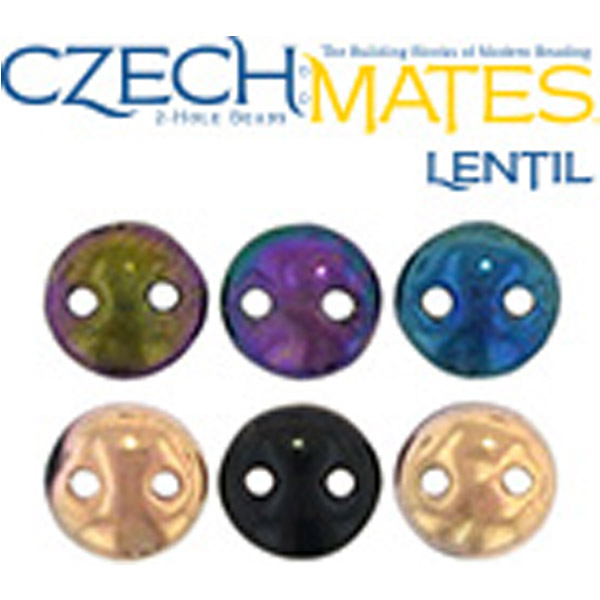 CzechMates® Lentil Beads 6 mm 50