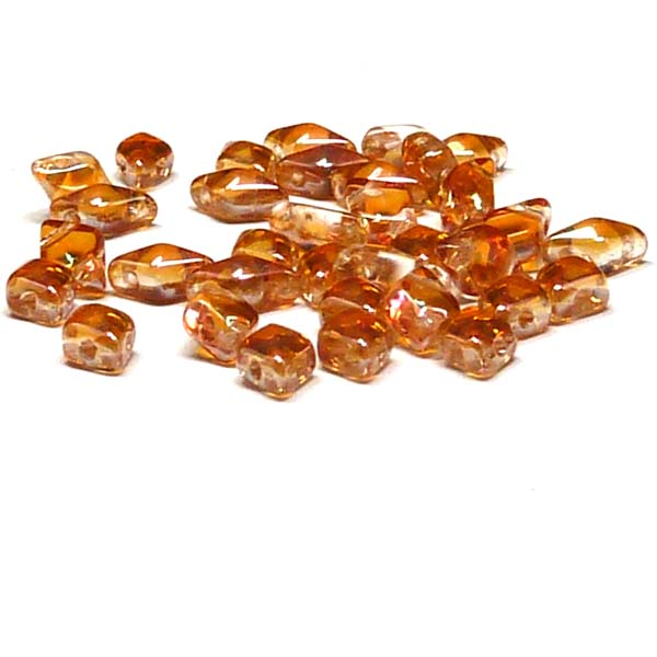 "DiamonDuo ""00030-29121"" Crystal Apricot Medium 2-hålspärla 8*5 m"