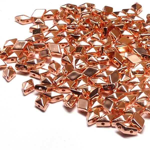 "DiamonDuo ""K275"" Copper Penny 2-hålspärla 8*5 mm 50 st"